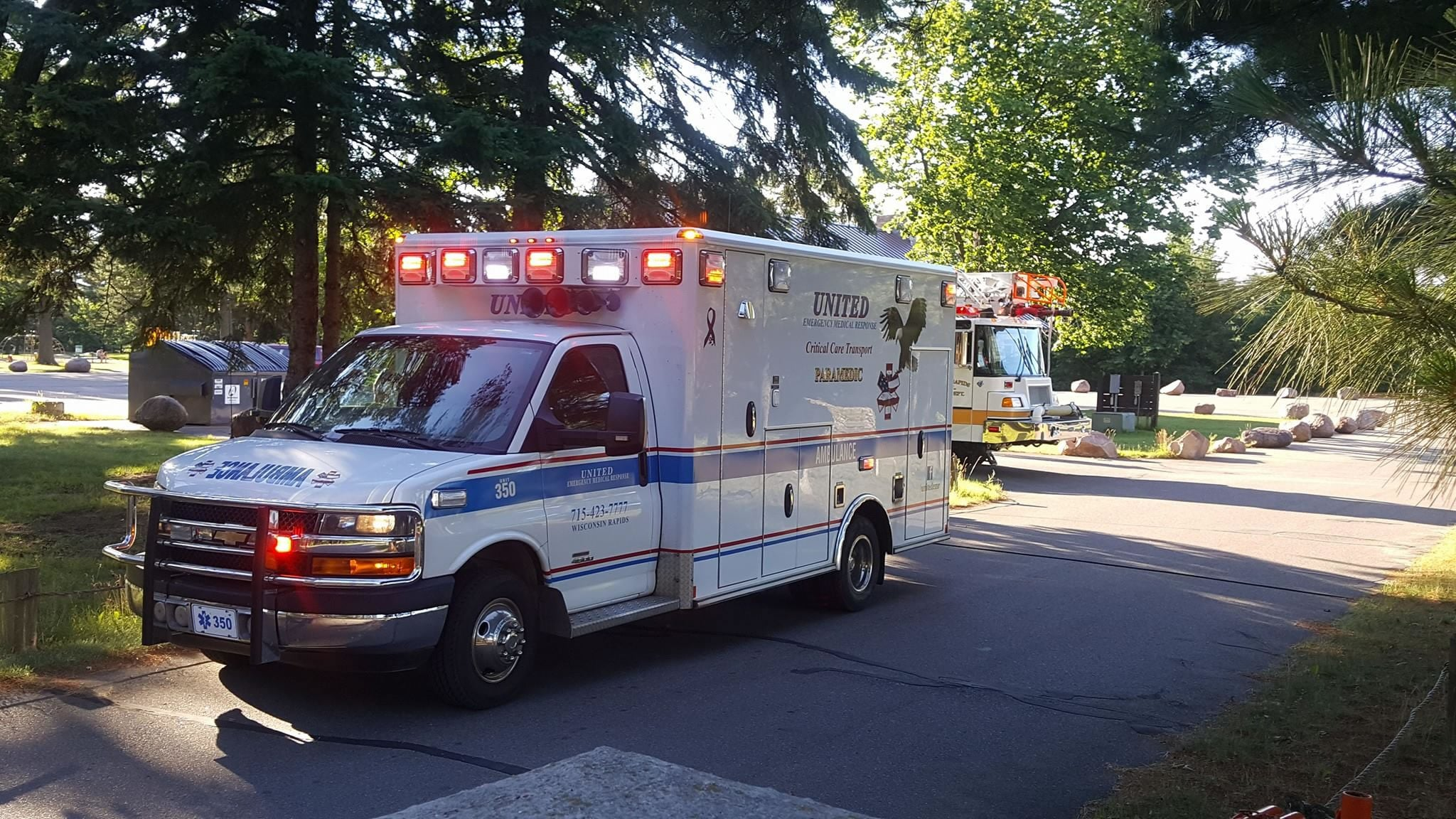 Ambulance in Neighborhood